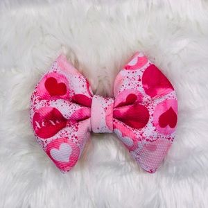 This our XOXO heart Puff Bow!!
